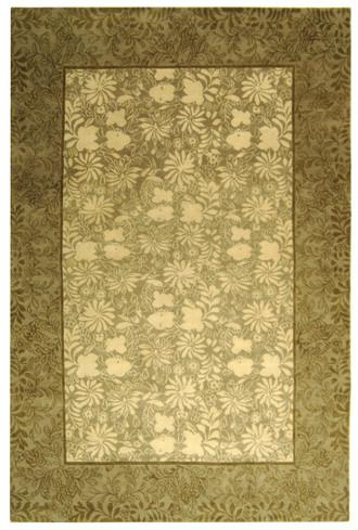 Thomas O'Brien TOB886A-Imari Floral Beige/tan/camel Green/olive/sage