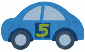 Kids Rugs - Blue Car 155x90cm