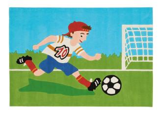 Kids Rugs - Footballer 160x110cm