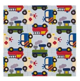 Kids Rugs - Traffic 130x130cm