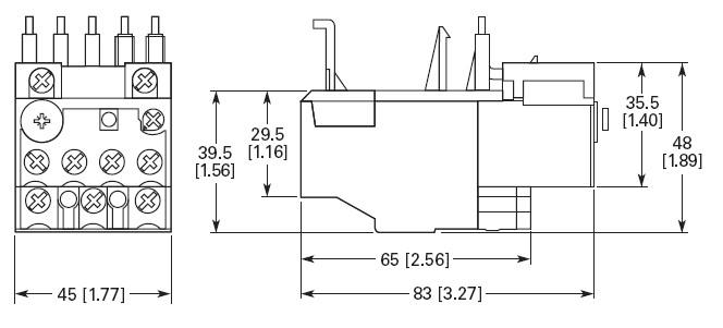 EATON XTOB010CC1 1 AMP Thermal Overload Relay