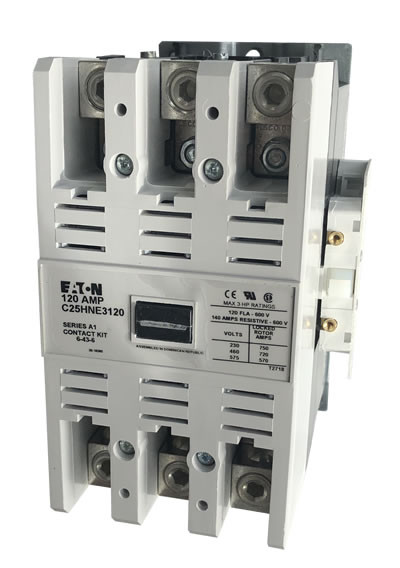Eaton C25HNE3120 3 pole 120 AMP contactor