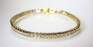 14 KT Vermeil Tennis Bracelet On Display