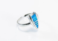 Arrowhead-Shape Inlaid With Lab-Created Opal