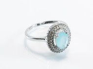 Round Chalcedony with Micro Pave Design