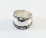 Balinese Hammered Silver Ring