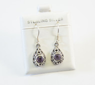Genuine Round Amethysts with Balinese Scroll Pattern