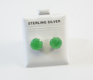 Large Round-Shaped Genuine Jade Studs