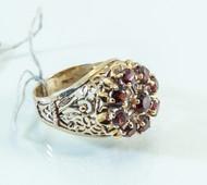 14 KT Gold Vintage Italian Garnet Ring