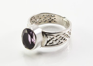Oval-Shaped Amethyst Ring