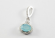 Oval-Shaped Chalcedony Drop Pendant