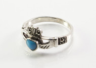 Turquoise Claddagh Ring