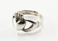 Big Silver Claddagh Ring