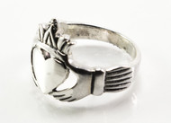 Pointy Silver Claddagh Ring