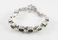 Oval-Shaped Peridot Balinese Bracelet