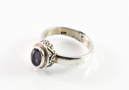 Balinese Sapphire Ring w/ Filigree Accents