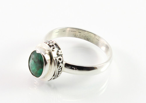 Balinese Emerald Ring w/ Filigree Accents