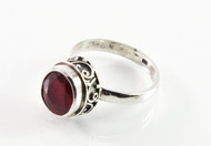 Balinese Ruby Ring w/ Filigree Accents, 3 Cts