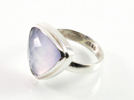Balinese Trilliant Cut Chalcedony Ring