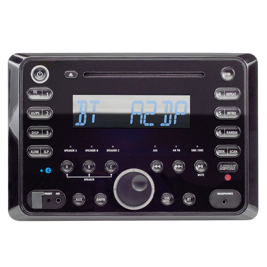Linear Series RV5090 | AM/FM/CD/DVD/BT Bluetooth 120 Watt Wall Mount Receiver with Remote Control - Front View