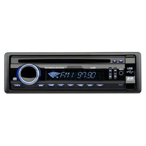 Magnadyne M2500CD | AM/FM/CD In-Dash Single DIN Receiver 180 Watts Front SD/USB/AUX Input Ports - Front View