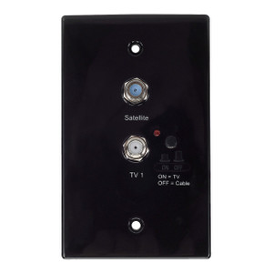 Magnadyne WS-B | Antenna Distribution Wall Plate (Black) - Front View