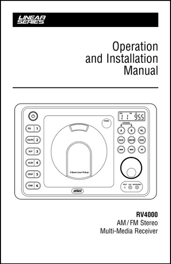 Linear Series RV4000 | User's Manual