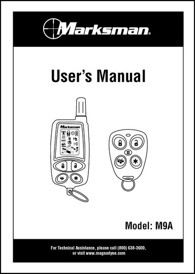 Marksman M9A | Owner's Manual