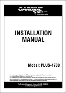 Carbine Plus-4700 | Installation Manual
