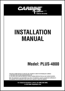 Carbine Plus-4800 | Installation Manual