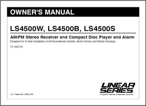 Linear Series LS4500W, LS4500B, LS4500S | Owner's Manual