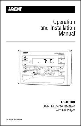Linear Series LS5050CD | Operation and Installation Manual