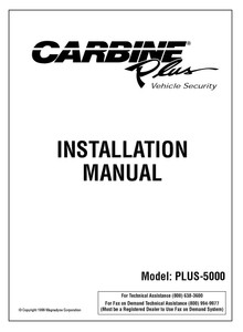 Carbine PLUS-5000 | Installation Manual