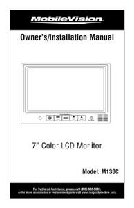 MobileVision M130C | Owner's/Installation Manual