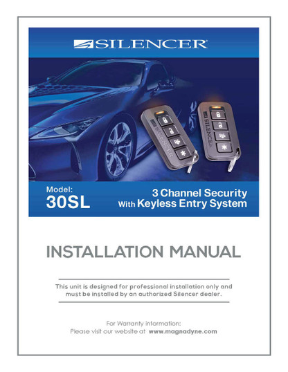 Silencer 30SL | Installation Manual