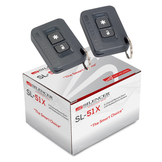 Silencer SL-51X | One-Way Remote Starter and Keyless Entry System - Packaging & Remotes