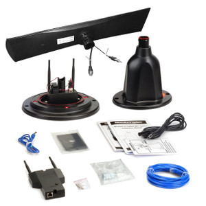 MobileVision MV100-TV |  12 Volt RV WiFi extender high gain antenna booster router black kit