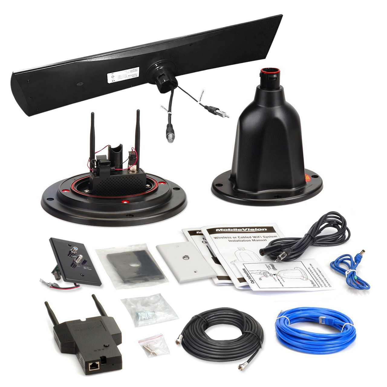RV-LINK RV-WIFITVB-W All-in-One WIFI/TV/FM/AM Internet Extender ANTENNA for  Recreational Vehicles