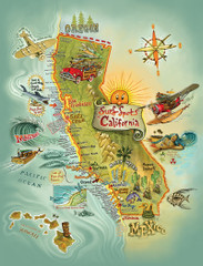 Cali Surf Spots [Note Card Set of 6]