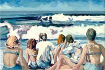 Girls on the Beach [SIGNATURE EDITION 24 x 16]