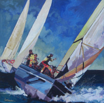 On Starboard Tack [Original Painting]
