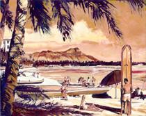 Waikiki Beach [Original Painting]