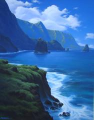 Blue Coast Waters [Original Painting]