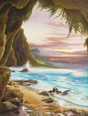 Napali Shores [Limited Edition 23 X 18]