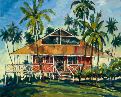 Plantation Style is another beautiful impressionist painting of Daniels unique color palette.  Daniels paints each composition with his own interpretation of reality as he sees the world and for the viewer to grasp that vision he has created with his dramatic palette knife and brush stroke techniques.  Each of Daniel's Tru-Giclee Limited Editions are imaged onto archival canvas utilizing the Giclee imaging process using archival inks.  The piece is un-stretched and is shipped rolled in a tube.