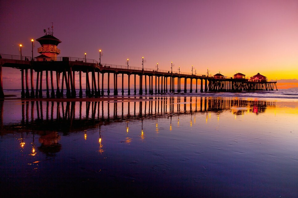 Huntington Beach Pier Twilights Photography 38x30 Surfart