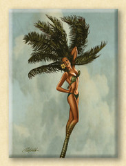 Fantasy Palm Girl [Note Card Set of 6]