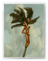 Fantasy Palm Girl [SIGNATURE EDITION 18 x 23]