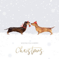 Festive Dachshund Friends