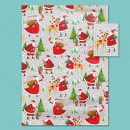 Santa Gift Wrap and Tags